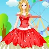 Принцесса в красном - игры для девочек одевалки свидания