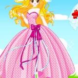 Флеш игра - розовая, романтичная одевалка для девушек
